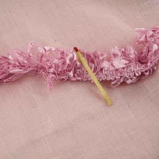 Light Boa ribbon style, tiny doll fuzzy band, 1 cm