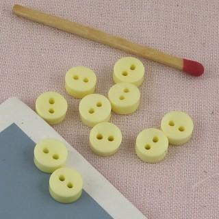 Bouton rond, petits boutons habits poupée 7 mm.