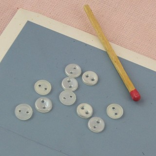 Petits Boutons mercerie àrebord 6 mm.