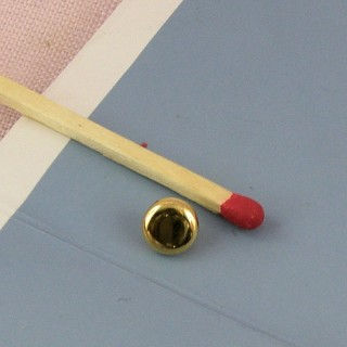 Shank metallic plastic button 6 mms