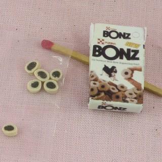 Alimentos perro miniatura casa muñeca