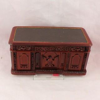 Bureau ministre miniature maison poupée
