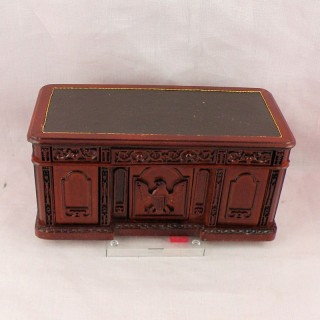 Miniature dollhouse furniture resolute desk
