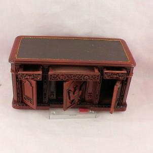 Bureau tiroirs miniature maison poupée