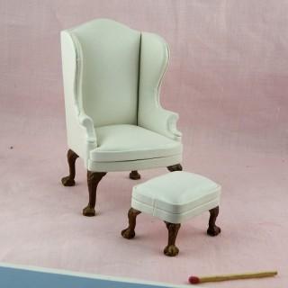 Sitz Miniaturleder Puppenhaus