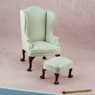 Traditional club chairLiving room  miniature doll house furniture