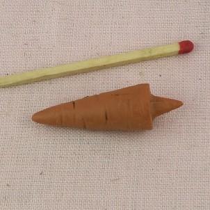 Carotte miniature nez bonhomme de neige 3 cm