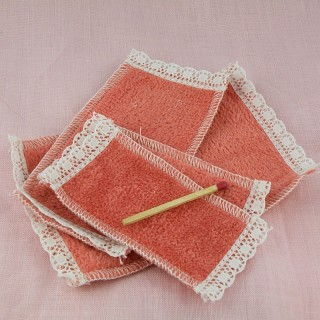 Embroidery miniature bath towels