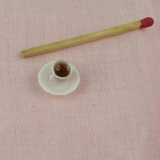 Tasse de café miniature maison poupée 1/12