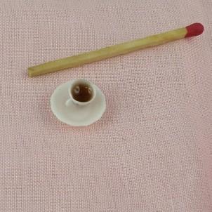 Tasso de caféminiatura casa muñeca,