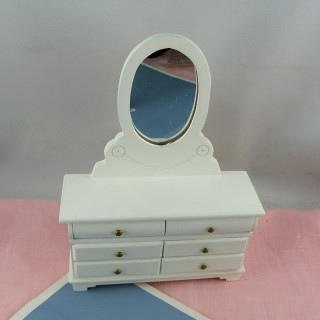 Dresser with mirror dollhouse bedroom