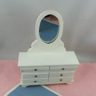Kommode Miniaturfrisöse Puppenhaus