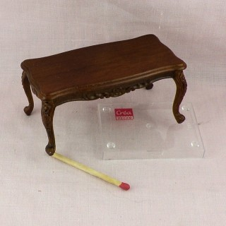 Miniature doll house living room table, tiny furniture