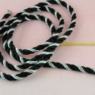 Twisted metallic Decorative cord 6 mms.