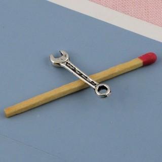 Dije Clave inglés herramientas miniatura