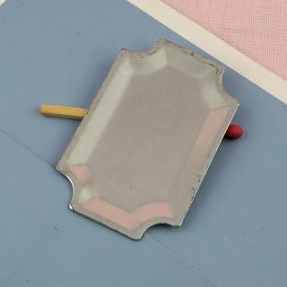 Miniaturtablett aus Metall 3 cm