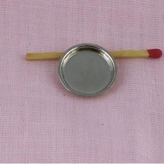 Plato en metal miniatura 2 cm