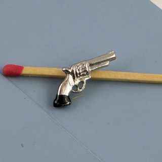 Pistola miniatura casa muñeca 2 cm.