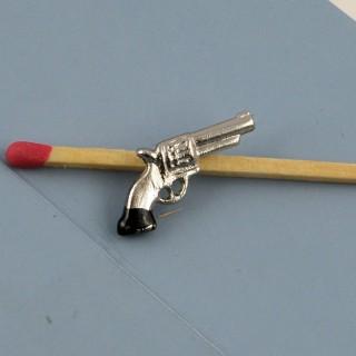 Pistolet miniature maison poupée 2 cm.