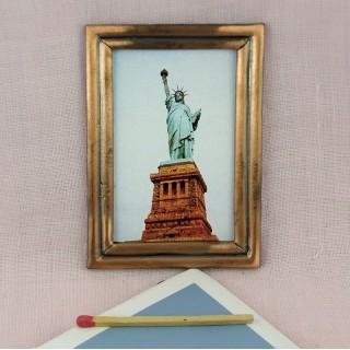 Tableau miniature New-York maison de poupée