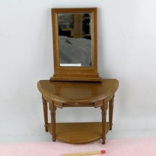 Tafel halb Mond Salon Puppenhaus,
