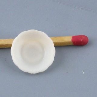 Assiette à soupe miniature miniature poupée 1/12ème