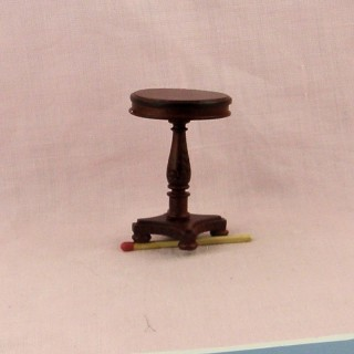 Miniature doll house octogonal living room table table, tiny dollhouse furniture