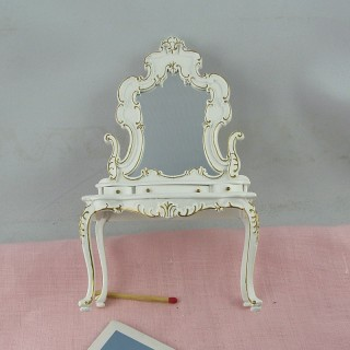Miniature vilet vanity with mirror