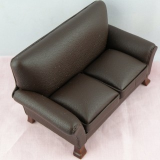Small sofa Living room  miniature doll house furniture