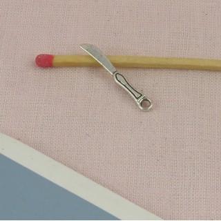 Cubiertos metal miniatura Cuchillo 2 cm