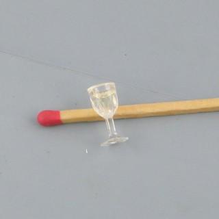 Volles Stielglas Miniaturhaus Puppe 1/12