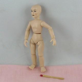 Muñeca miniatura 1/12ème Hombre Heidi Ott 14 cm