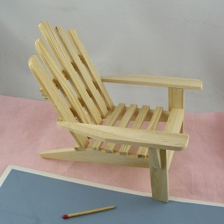 Miniature wooden chair for doll