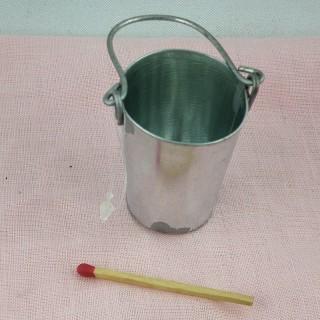 Galvanized vintage pail 7 cm