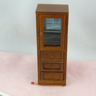 Cupboard white painted doll house furniture