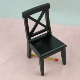 Wooden chair miniature, doll house living room
