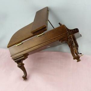 Mahogany piano miniature doll house living room