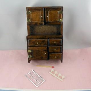 Sideboard, dresser, flour bin hutch, 17 cms
