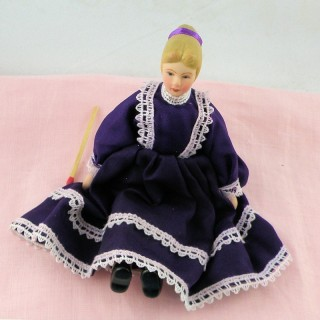 Black mother 1/12 for dollhouse 14 cms