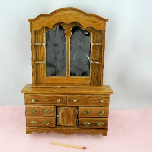 Dresser with mirror, dollhouse miniature furniturebedroom