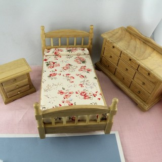 bedroom miniature dollhouse furnitures