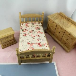 Chambre d'enfant miniature pour maison de poupée