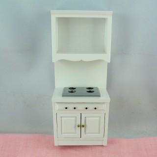 Mueble cocción miniatura casa muñeca 18 cm.