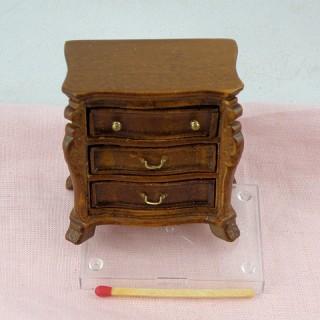 Tabla de noche cabecera miniatura madera