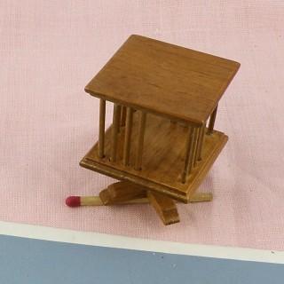 Bibliothèque tournante miniature maison poupée