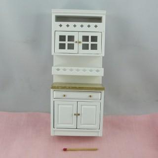 Mueble cocina miniatura casa muñeca 18 cm.