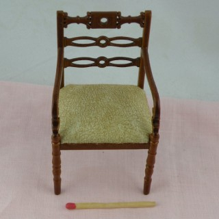 Side chair miniature mahogany  , doll house living room