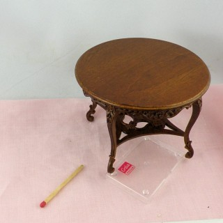 Miniature round table doll's house