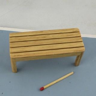 Banco miniatura mobiliario en madera