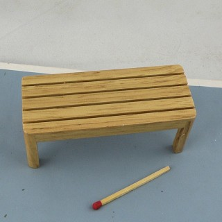 Miniature bench wooden furniture